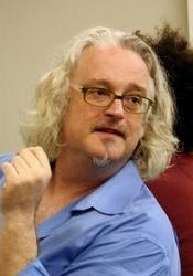 Professor Phillip Thurtle in a blue shirt